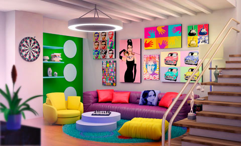 Decoracion retro pop art