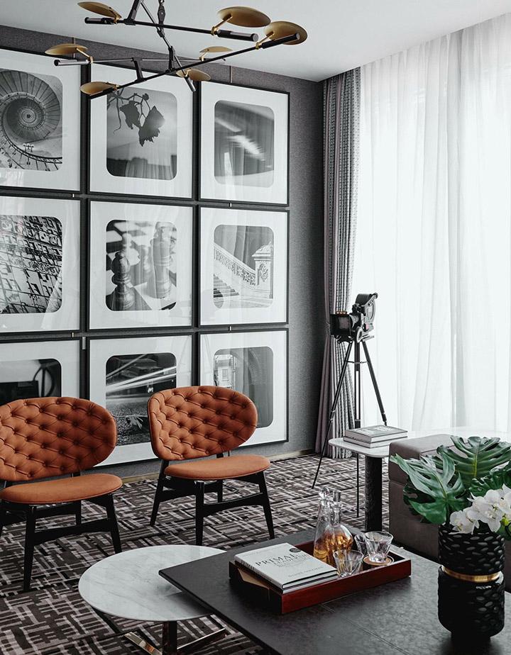 Decorar paredes con fotos en blanco y negro
