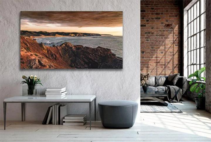 Decorar paredes con fotos grandes sin marco