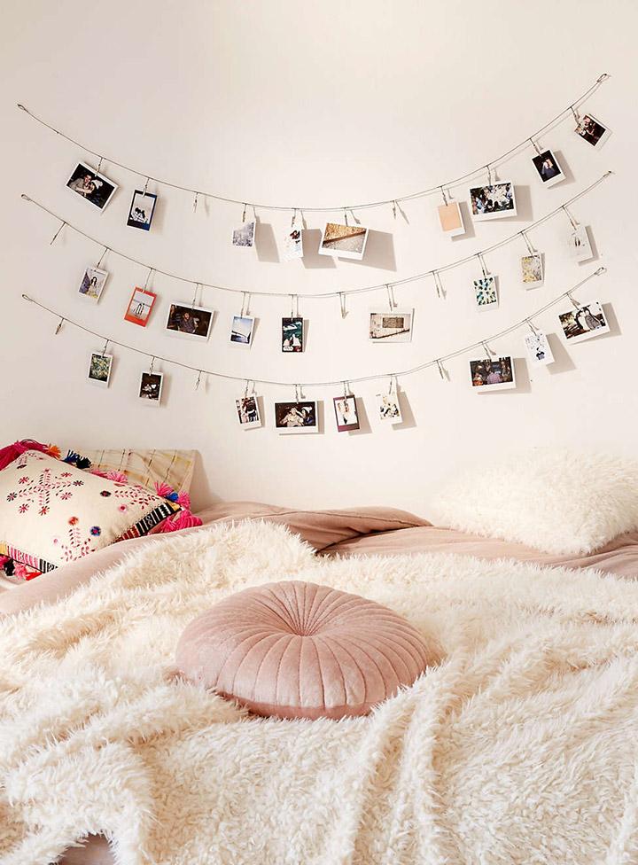 Decorar paredes con fotos polaroid