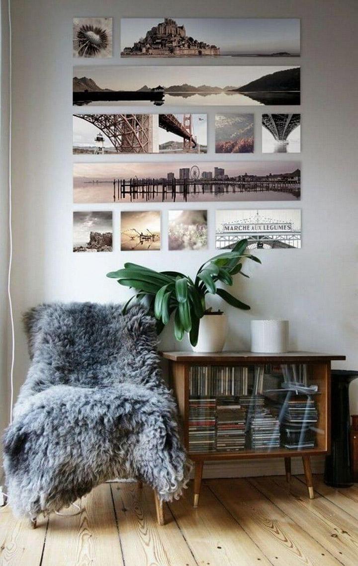 Decorar paredes con fotos de viajes