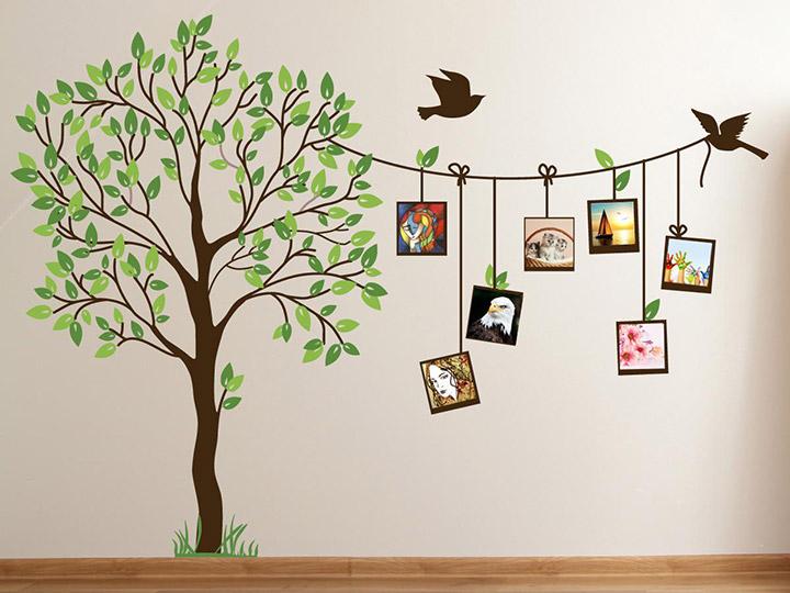 Vinilos de árboels para decorar paredes con fotos