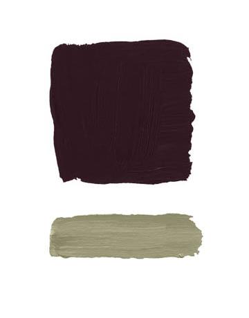 Combinaciones color berenjena y gris verde