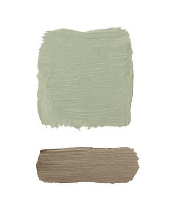 Combinaciones color verde y marrón