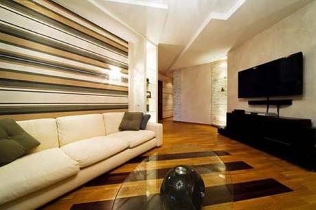 habitacion diagonal decorar con rayas suelo