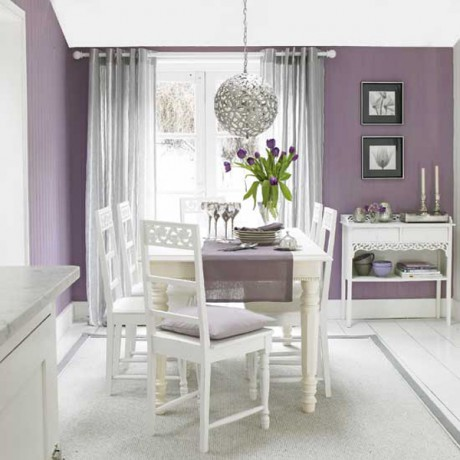 Color lila en decoraci n decorar hogar for Significado d living room