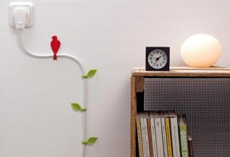 Ocultar los cables eléctricos con hojas