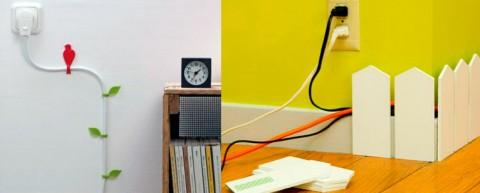Ocultar los cables electricos