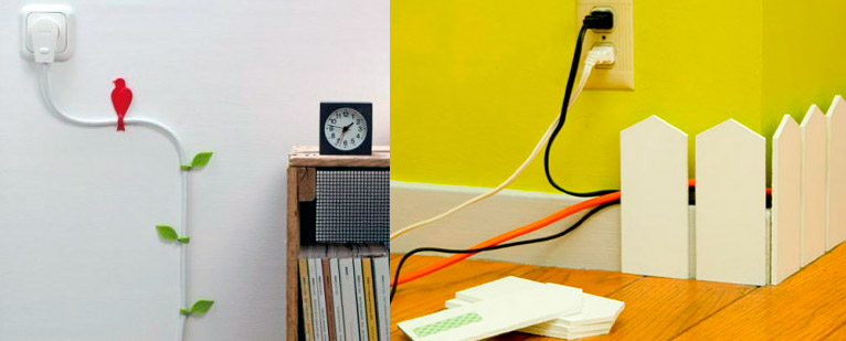 Ocultar los cables a la vista decorar hogar - Como camuflar cables ...