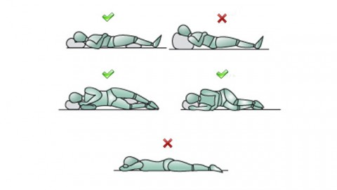 posturas correctas dormir