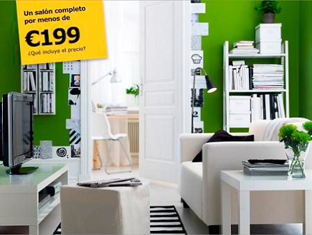 Lack ikea decorar sal n completo por 199 decorar hogar for Muebles para salon ikea