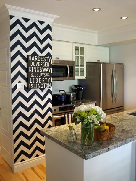 decoracion zigzag en paredes