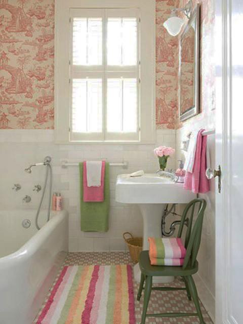 20 ideas para decorar ba os peque os decorar hogar for Colores para banos pequenos