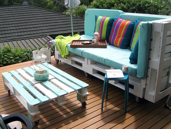 Decorar con palets de madera la terraza