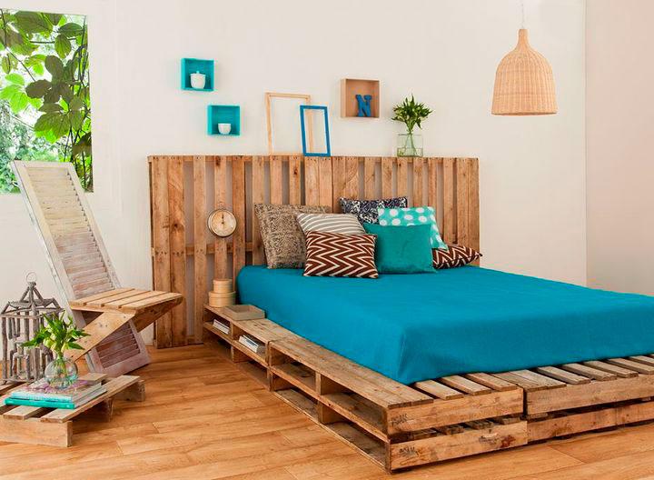 Decorar habitación juvenis con palets de madera