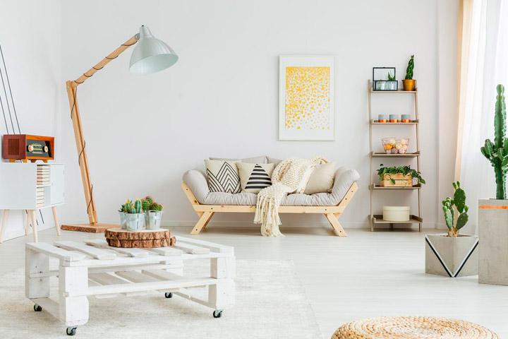 Decorar con palets de madera reciclados la casa y el jardín