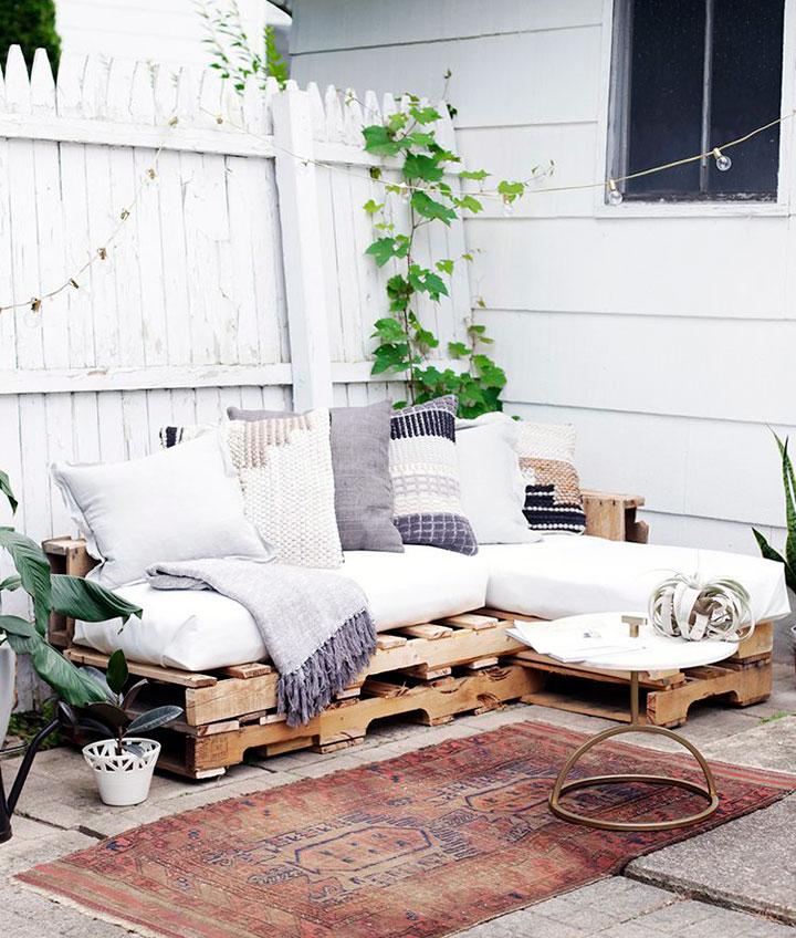 Decorar con palets reciclados la terraza