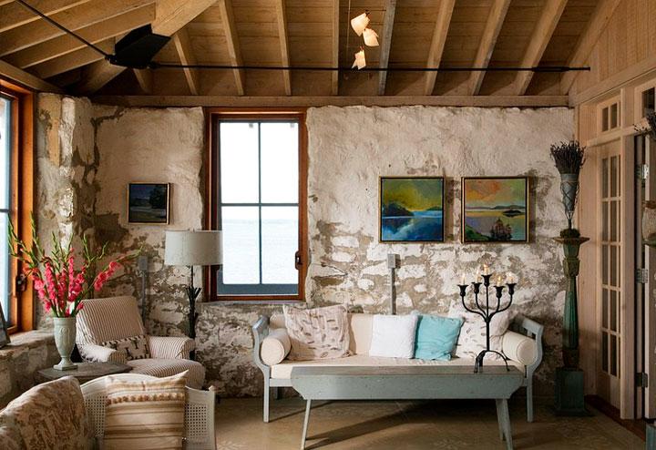 Cómo decorar un salón con encanto al estilo rústico