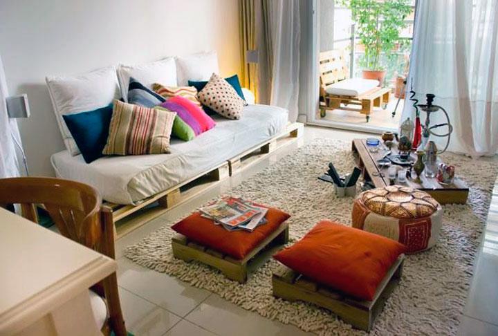 Decorar salones con palets de madera