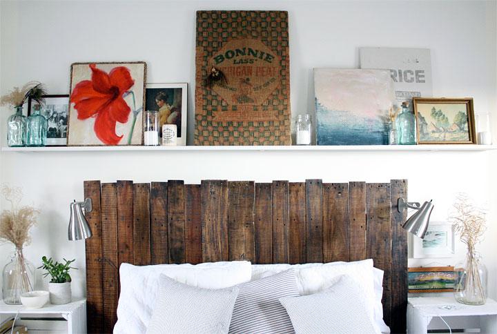 Decorar habitaciones con palets de madera reciclada