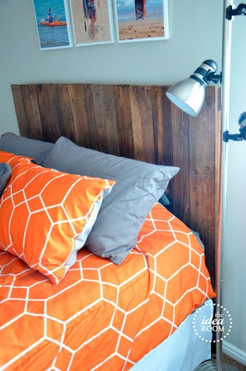Hacer un cabecero con palets decorar hogar - Cabeceros hechos con palets ...