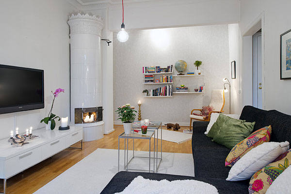 Ideas de salones con encanto con chimenea