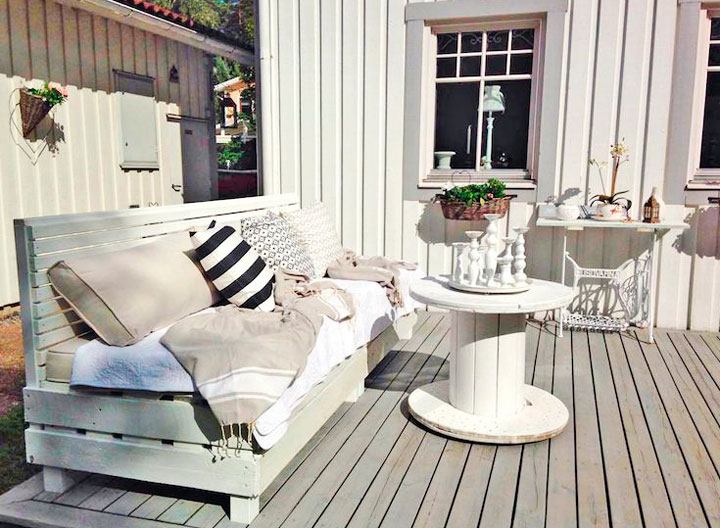 Ideas de patios con palets de madera