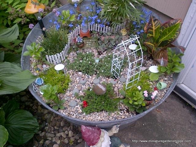 Hacer jardines en miniatura caseros