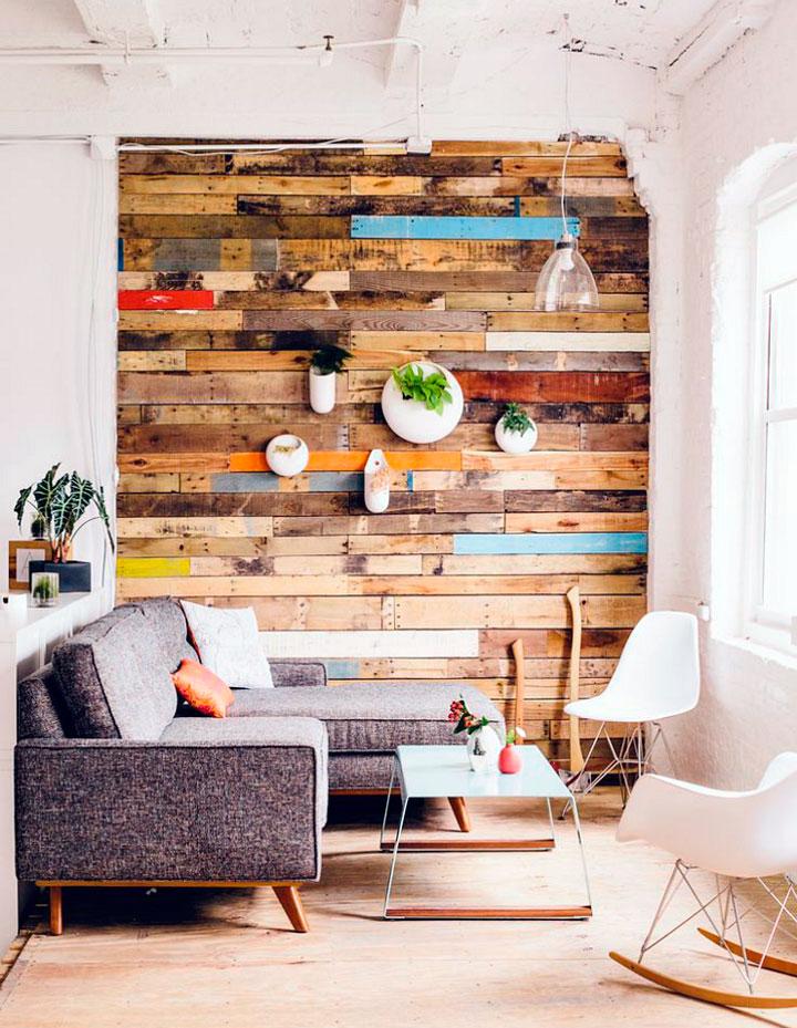 Decorar paredes con palets de madera