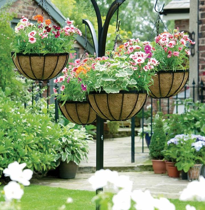 Plantas artificiales colgantes para la puerta de casda