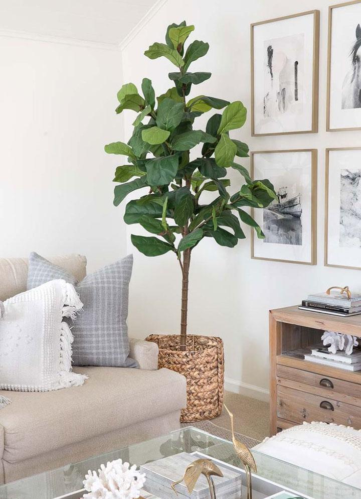 Dónde colocar plantas artificiales en el salón