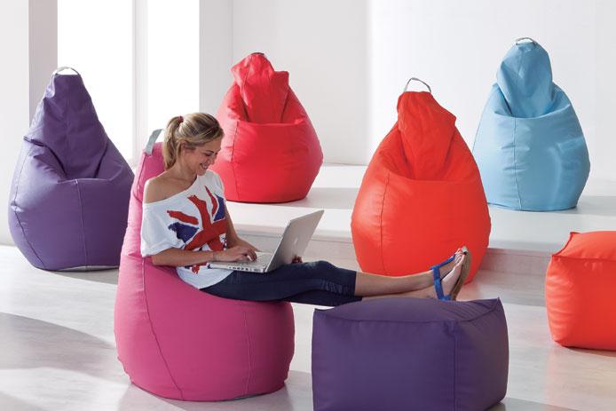 Puffs y cojines gigantes elige el mejor puff para tu casa decorar hogar - Cojines gigantes para el suelo ...