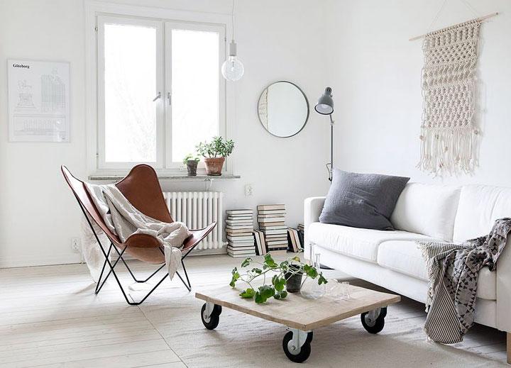 Decorar salón bonito y acogedor estilo minimalista
