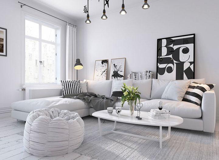 Cómo decorar un salón con encanto acogedor
