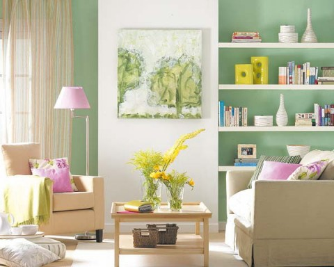 20 ideas para colocar estanter as en rincones decorar hogar - Decoracion estanterias salon ...