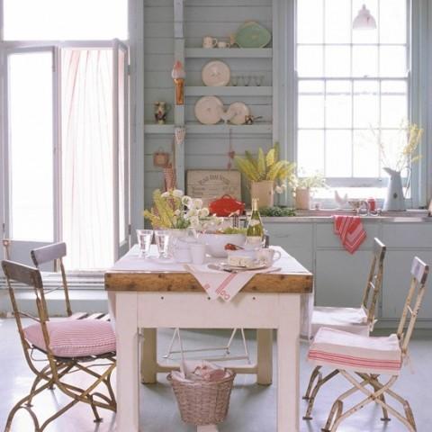Decorar la cocina en tonos pastel decorar hogar - Decorar tu cocina ...