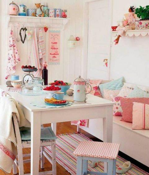 Decorar la cocina en tonos pastel decorar hogar - Decoracion hogar vintage ...