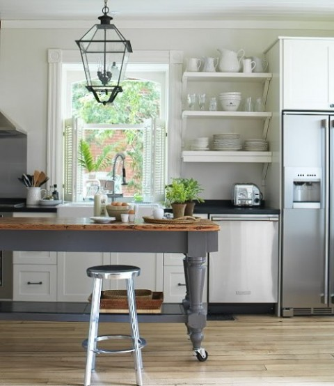 farm table kitchen island 30 ideas de estanter 237 as abiertas en la cocina decorar hogar 17520