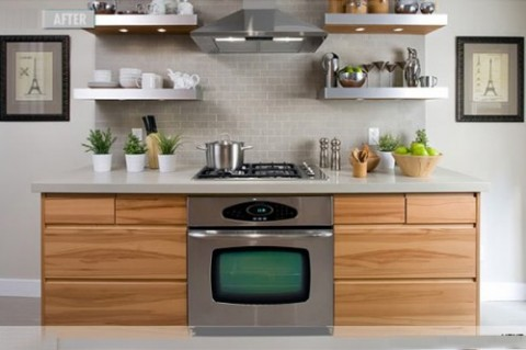 30 ideas de estanter as abiertas en la cocina decorar hogar for Decoracion de cocinas pequenas con repisas