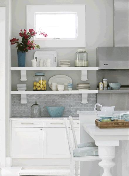 30 ideas de estanter as abiertas en la cocina decorar hogar for Estanterias cocinas pequenas