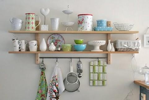 30 ideas de estanter as abiertas en la cocina decorar hogar - Estanterias para cocinas ...