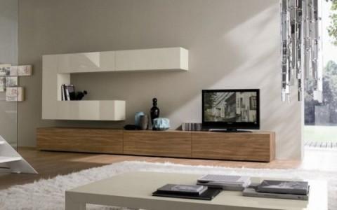 17 ideas para muebles de televisión - Decorar Hogar
