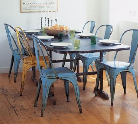 Trucos para decorar un comedor retro decorar hogar Mesas industriales vintage