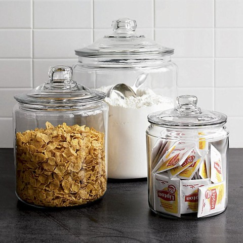 clear glass canisters for kitchen tarros para alimentos en la cocina decorar hogar 23312
