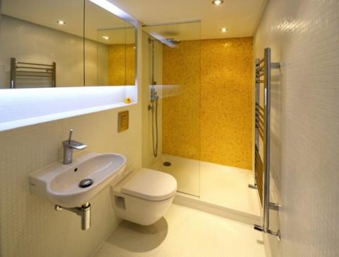 Baño pequeño loft londres