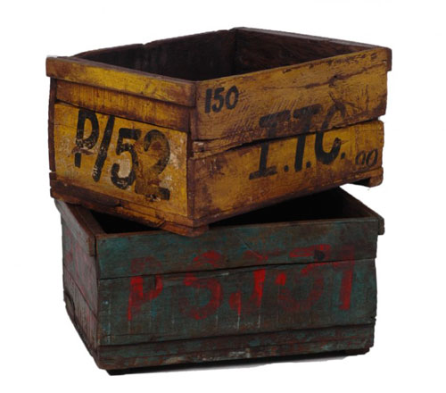 Cajas de madera antiguas vintage