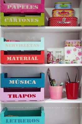 Decorar con cajas de fruta de madera decorar hogar - Cajas de fruta decoracion ...