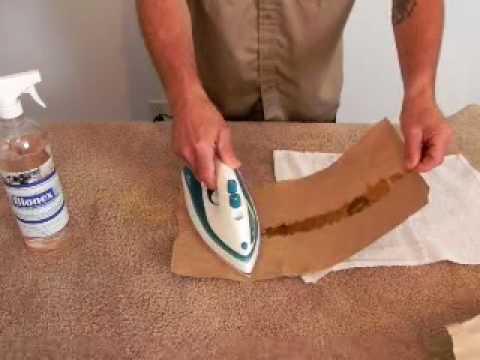 Como quitar cera de vela de alfombras