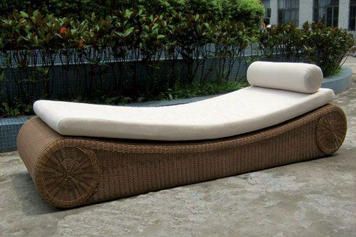 Tumbona de jardin de diseño