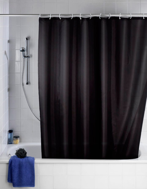 Elegante cortina de ducha color negro